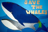 Save the Whales CD artwork by the children of Toddler's Turf