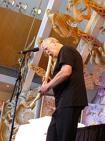 Richard Nunns playing a whale rib putorino