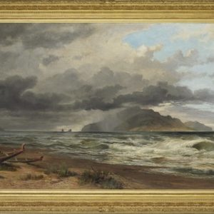 Nicholas Chevalier, Cook Straits, New Zealand, c1884