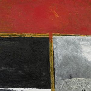 Colin McCahon, Mondrian's last chrysanthemum, 1976