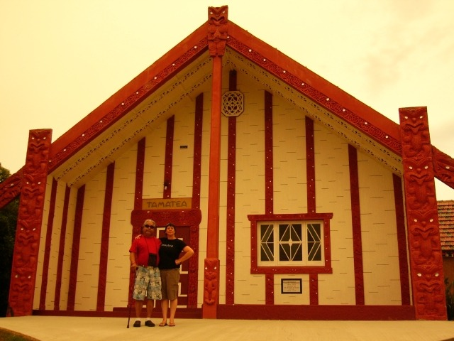 James and Megan at Otakou Marae