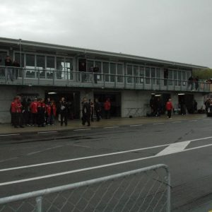Pits viewed from beside the track