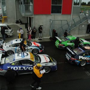 Dummy grid for the Porsche GT3 Cup