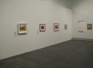 Rita Angus: Life & Vision at Christchurch Art Gallery. Front left: Cass.