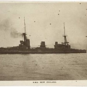 Postcard showing HMS New Zealand