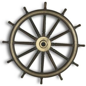 Steering wheel from HMS New Zealand, about 1910.