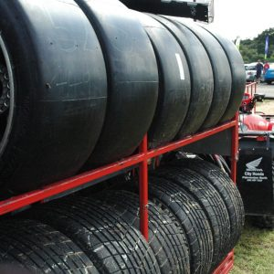 Porsche tyres - slicks above, treaded below