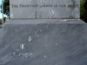 Collingwood memorial detail, February 2009