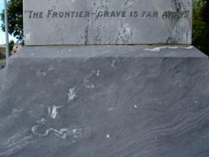 Collingwood memorial detail, February 2009