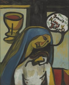 Colin McCahon, <em>King of the Jews</em>, 1947<br />© courtesy of the Colin McCahon Research and Publication Trust