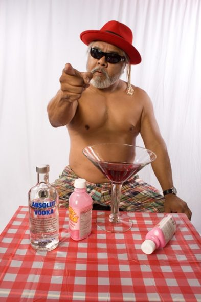 James Luna, Pink Russian, 2007   from a series on an ageing artist
