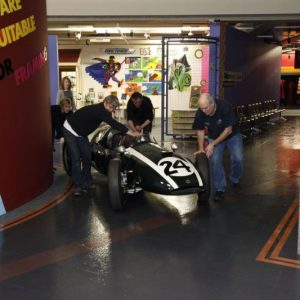 The Cooper T51 cornering nicely.© Te Papa, 2009.