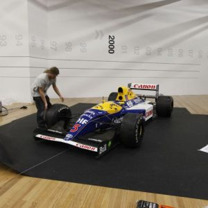 The Williams on its final resting place in the Visa Platinum Gallery. © Te Papa, 2009.