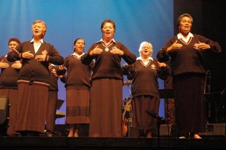 Te Hokowhitu a Tu performing at Te Papa in 2008. © Te Papa, 2008