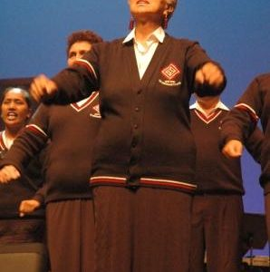 Te Hokowhitu a Tu perform at Te Papa in 2008. © Te Papa, 2008