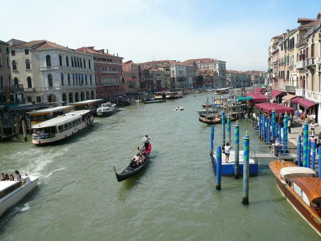 The Grand Canal from Rialto Bridge