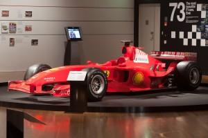 The Ferrari F2004 in the Formula One™ – The Great Design Race exhibition