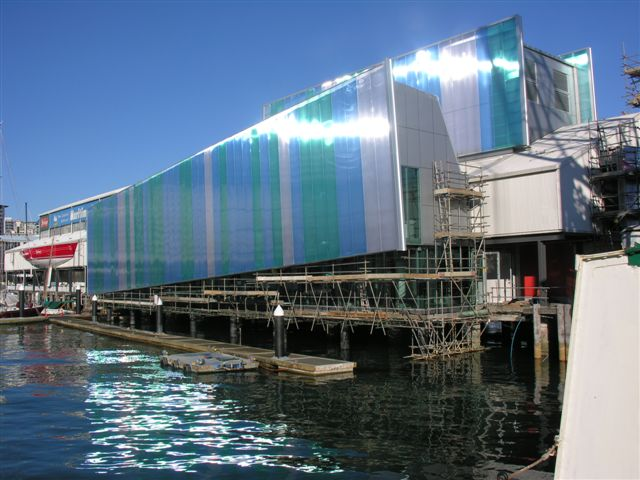The new exhibition wing at the National Maritime Museum, Auckland. ©NMM Collection.