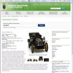 Motor Car, 1903, Peugeot, Gift of A.R. and J.D. Green, 1955