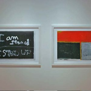 Installation in Toi Te Papa after reframing. © courtesy of the Colin McCahon Research and Publication Trust