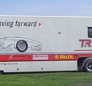 The Toyota Racing Series transporter truck.  © Toyota Racing Series