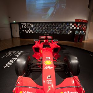 The Ferrari F2004 will be going back to Australia. Thanks Bridgestone for securing this car for the exhibition!