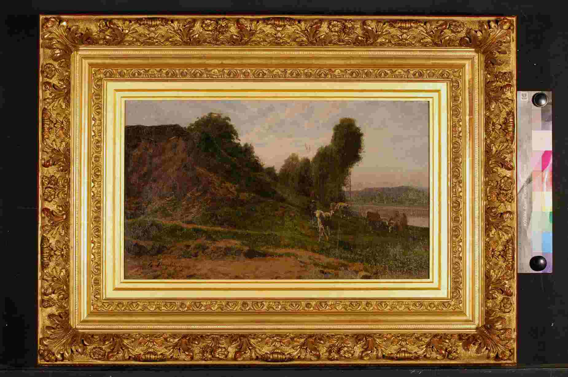 Daubigny Landscape with sheep