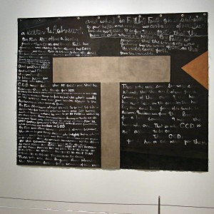 Colin McCahon's A letter to Hebrews, 1979, in Toi Te Papa exhibition. © Courtesy of the Colin McCahon Research and Publication Trust