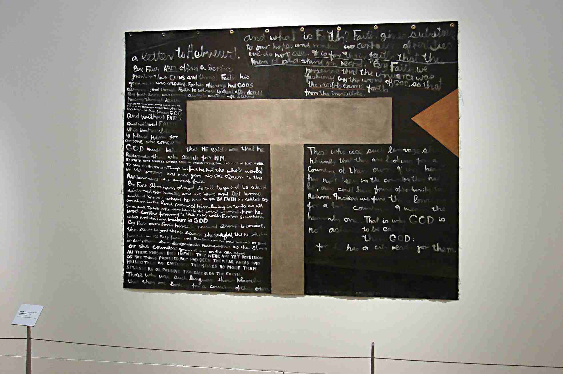 Colin McCahon A letter to Hebrews