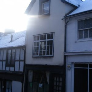 Gideon Mantell's house in Lewes, as it looks today - in the snow, 2010.