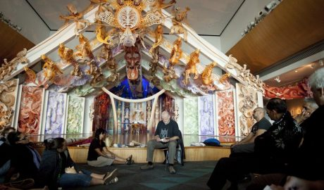 Richard Nunns talks to Te Papa's taonga pūoro group, March 2010.