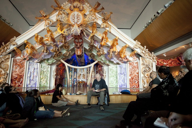Richard Nunns talks to Te Papa's taonga pūoro group, March 2010.