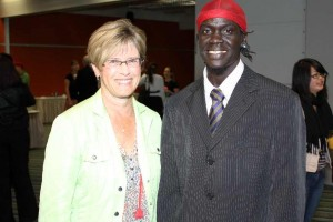 Abdalla with Wellington Mayor Kerry Prendergast