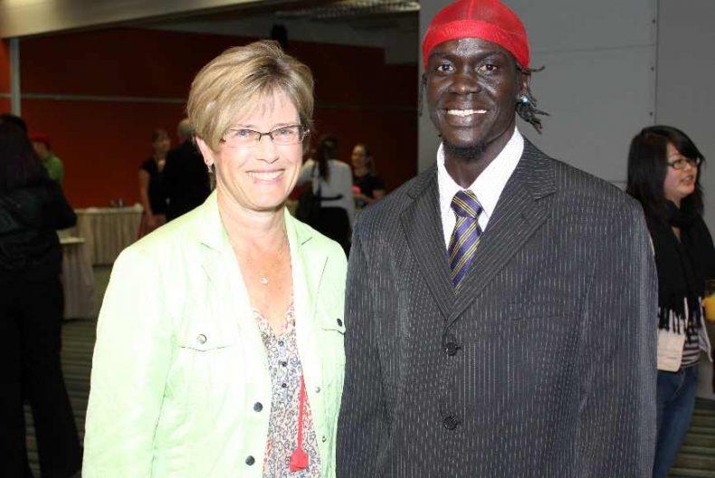 Abdalla with Wellington Mayor Kerry Prendergast