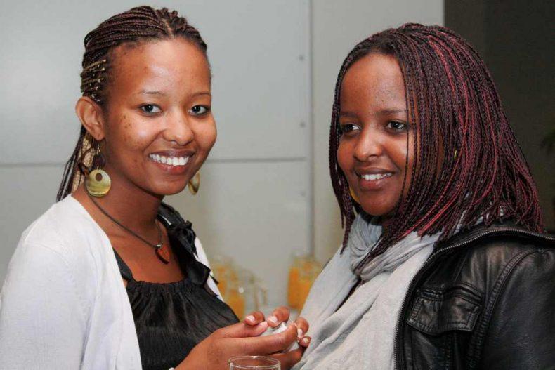 Martine and friend from Rwanda