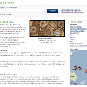 Collections Online mapping