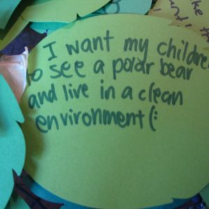 one of the feathers filled out by New Zealand children for the Words on a Wing project | (c) Te Papa