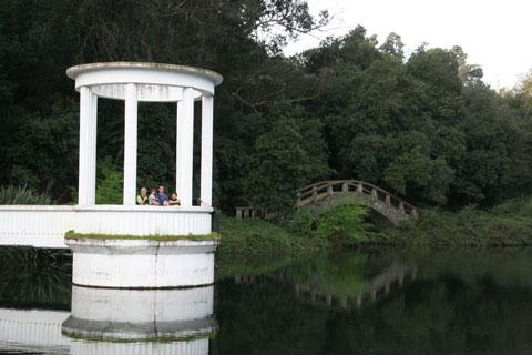 Lake inside the botanic garden. Photo © Heidi M. Meudt.