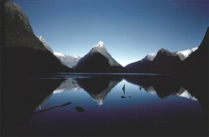 Brake's iconic image of Milford Sound