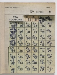 Tea coupons from ration book, 1943, GH12052, Te Papa