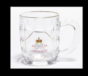 GH13242 Beer tankard made for the 1953-54 royal tour. Te Papa
