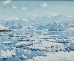 1958-0007-1; Hallet Bay, Antarctica; Peter McIntyre. Te Papa