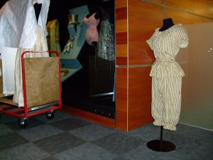 Edwardian bathing suit ready to go on display in Enriching Fashion. Photograph by Kirstie Ross