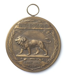 Empire Games medal, 1934, Phillips, F. England. Gift of Douglas Crump, 2009. Te Papa