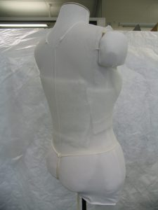 Mannequin padded out with Dacron.