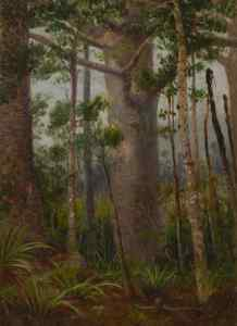 Bush scene, 1919, Blomfield, Charles (1848–1926), Auckland. Purchased 1972. Te Papa