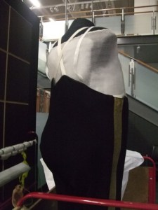 Richard Seddon's Levee Uniform trousers on a padded form