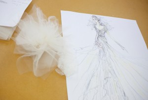 Jane Yeh is creating a wholly romantic gown.