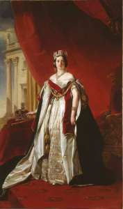Franz Xaver Winterhalter, Queen Victoria, 1843, oil on canvas. (c) Collection of HM Queen Elizabeth II.