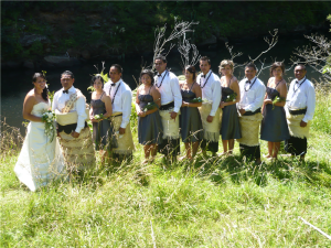 Wedding of Terrianne Takulua & Sonatane Takulua, Waipoua Forest, 2011 from Te Papa's Wedding Gallery.